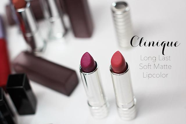 clinique long last soft matte lip color
