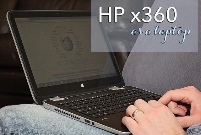hp 360 as a laptop