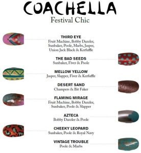 Coachella Nails with butter LONDON