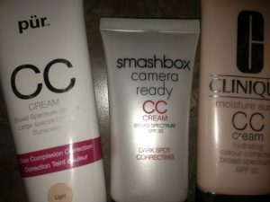 CC Cream Comparison- Pur, Smashbox, & Clinique