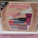 Sephora Favorites Lip Service Lip Sampler Review & Swatches