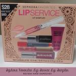 Sephora Favorites Lip Service Lip Sampler Review & Swatches