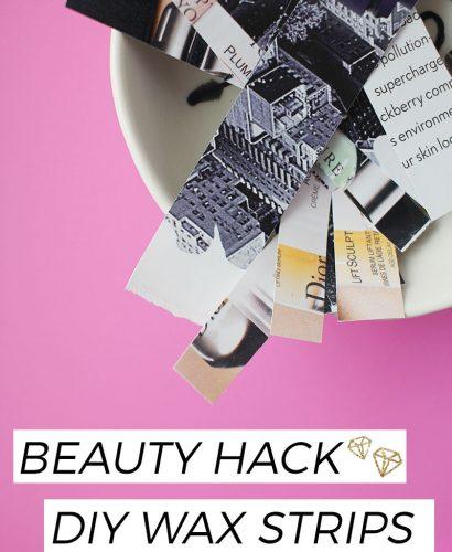 Beauty Hack - DIY Wax Strips
