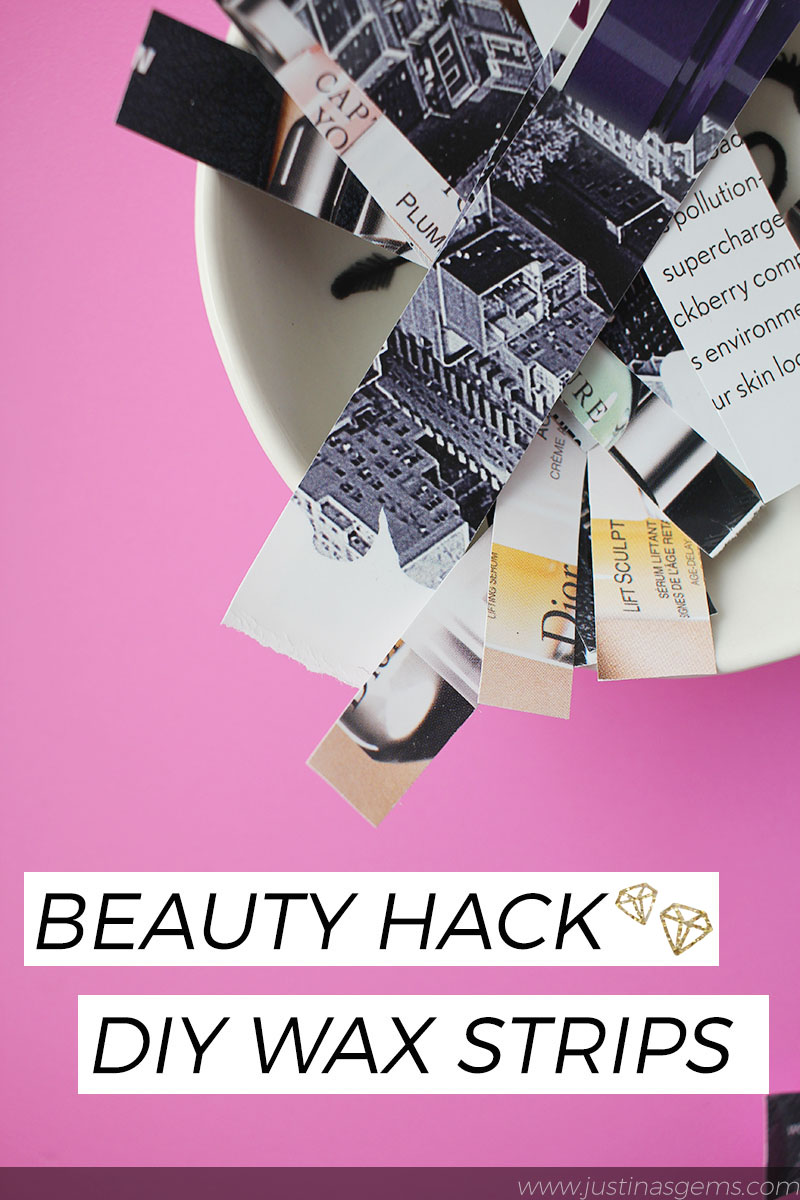 Beauty Hack - DIY Wax Strips