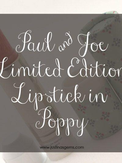 Paul & Joe Lipstick in Poppy for Spring 2014