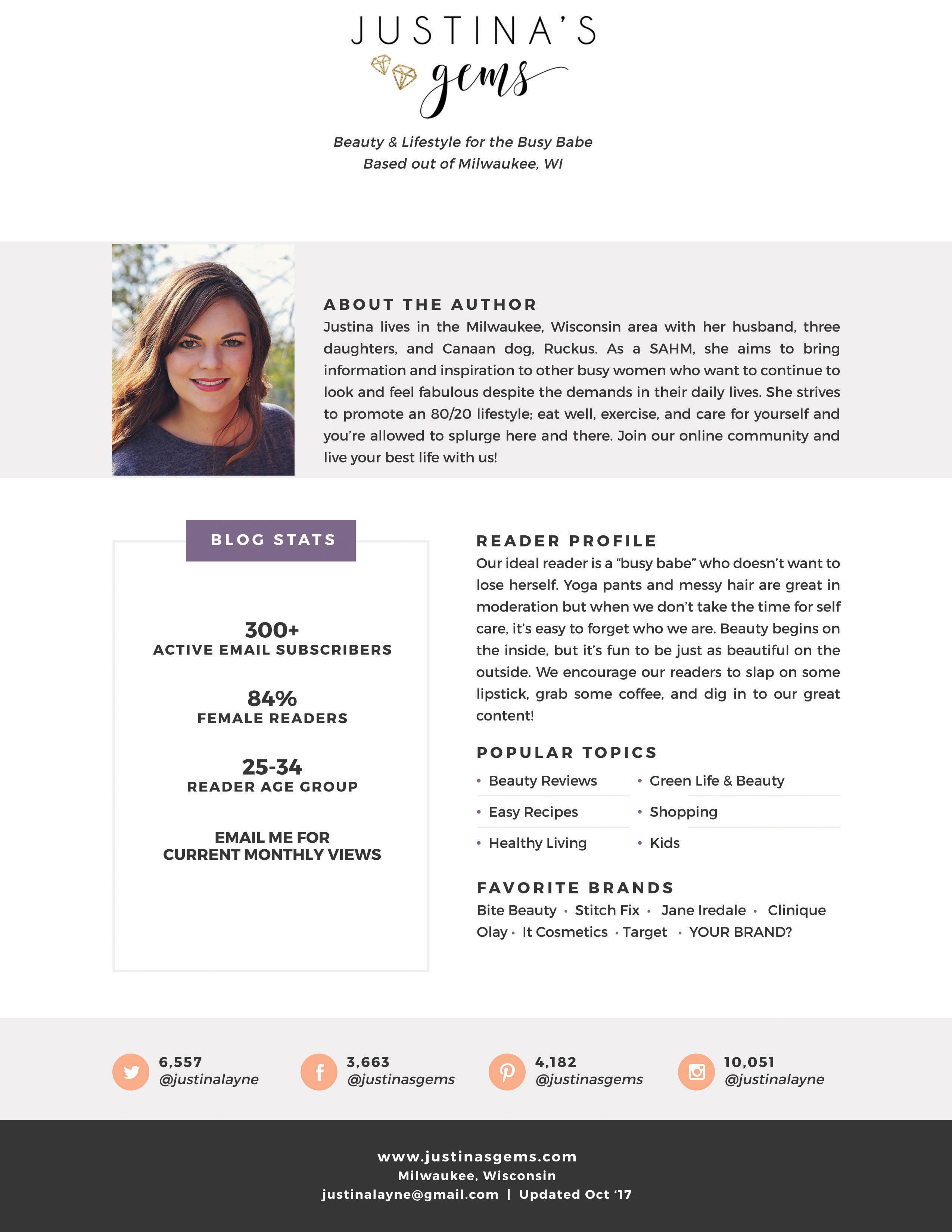 blogger for hire, media kit