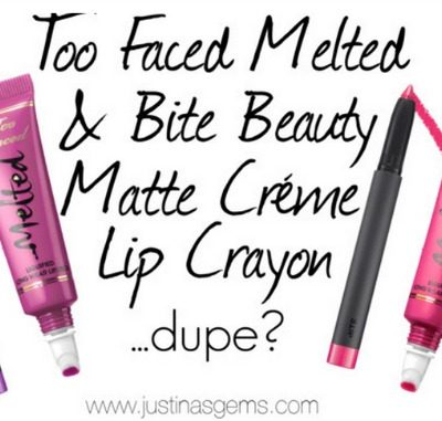 Too Faced Melted & Bite Beauty Matte Créme Lip Crayons- Are They Dupes?