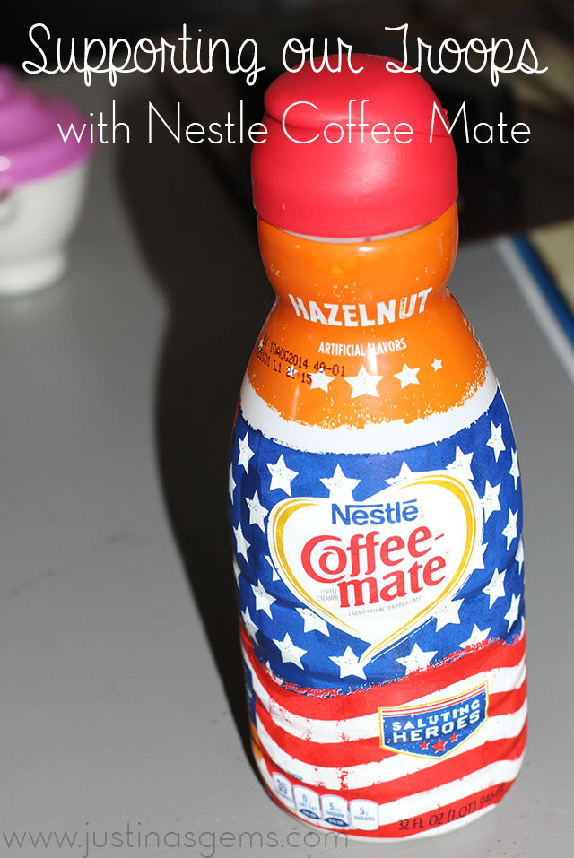 supporting our troops with nestle coffee mate
