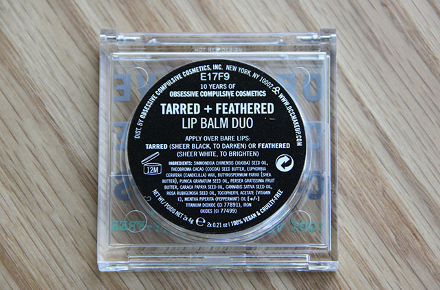 tarred and feathered lip balm duo
