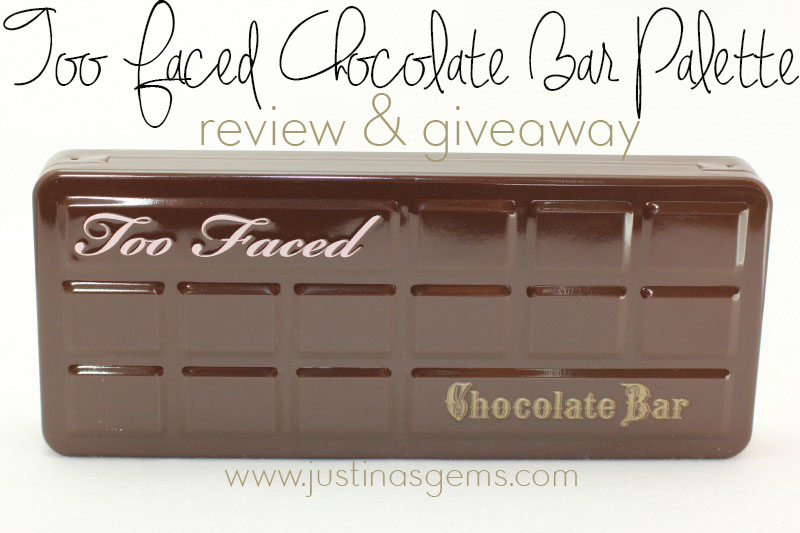 too faced chocolate bar palette and giveaway