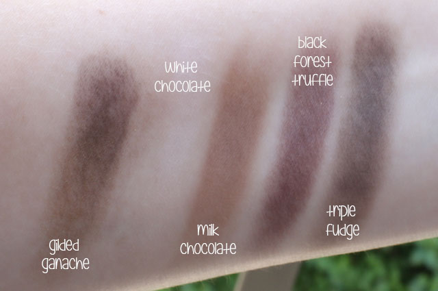 too faced chocolate bar swatches 1