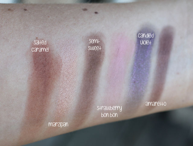 too faced chocolate bar swatches 2