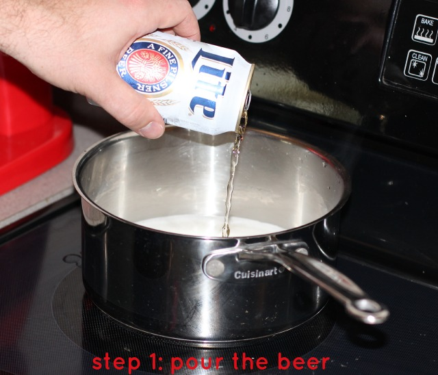 step one, pour the beer.jpg