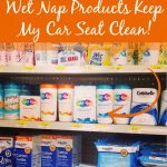 Keeping the Car Seat Clean with Wet-Nap from Walmart!
