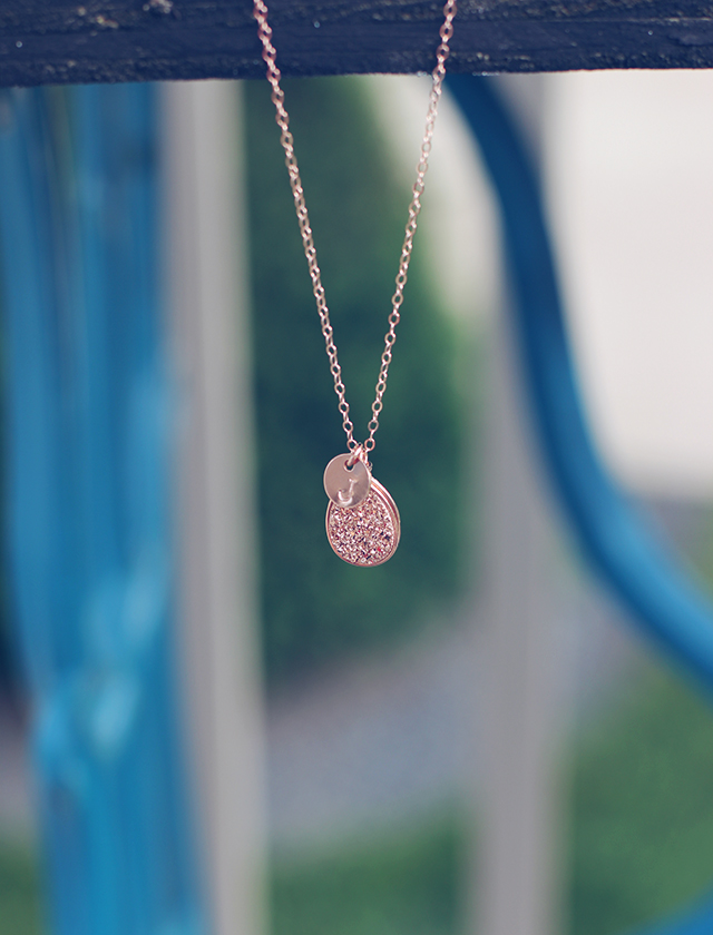 wrenn rose gold necklace