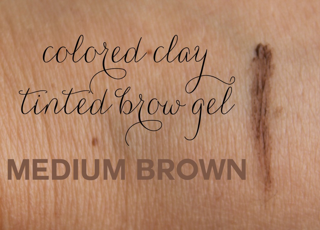 colored clay brow gel medium brown