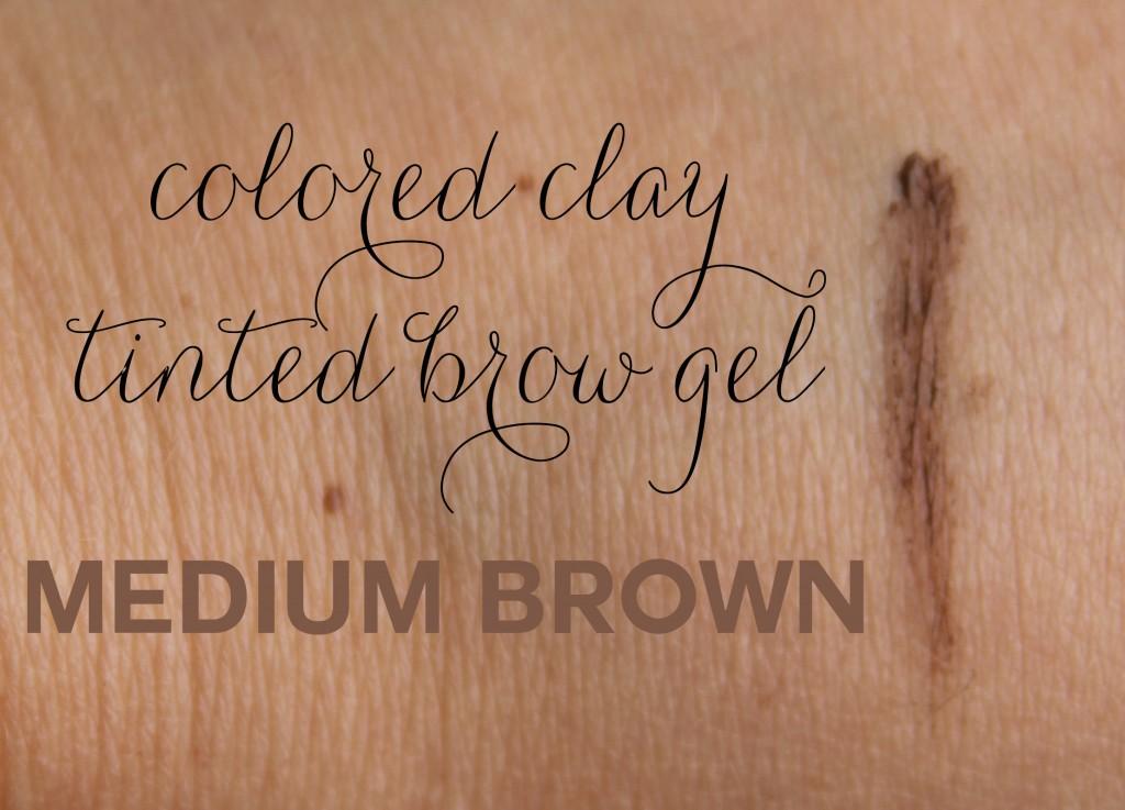 colored clay brow gel medium brown