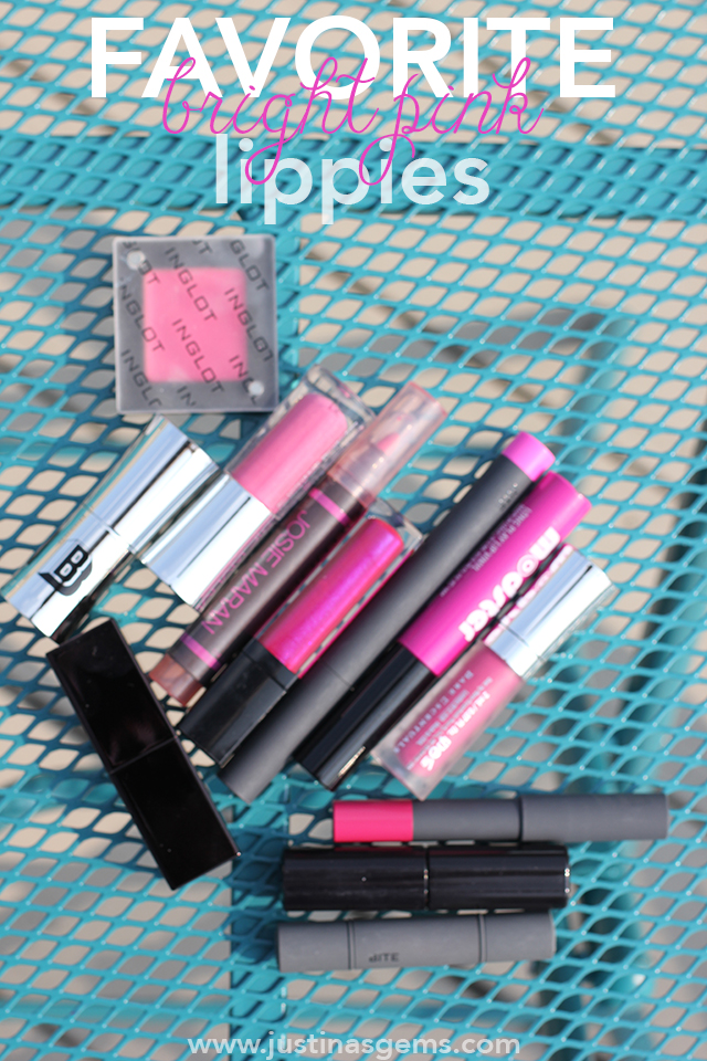 favorite bright pink lippies cover