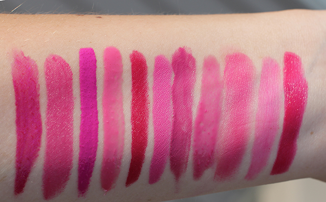 favorite bright pink lippies