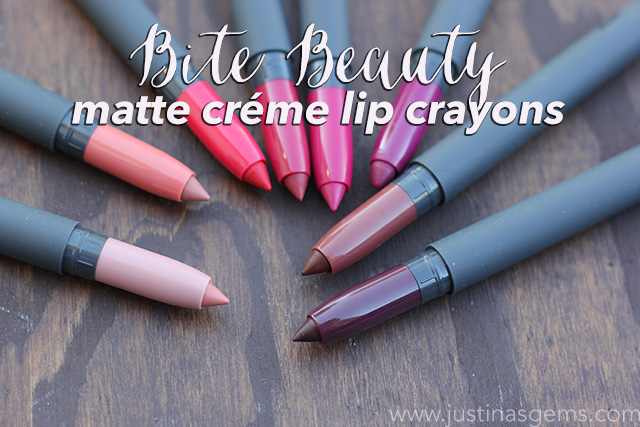 bite beauty matte creme lip crayons cover