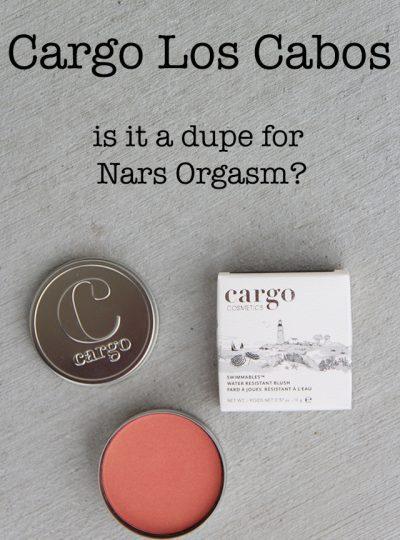 Cargo los Cabos Blush- Dupe for Nars Orgasm?