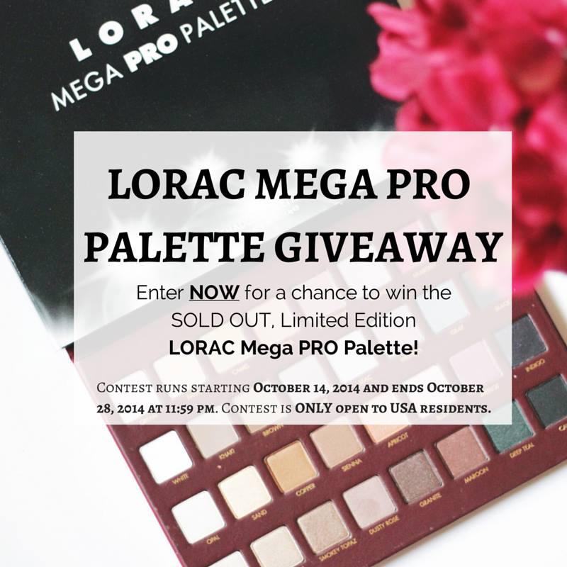lorac mega pro giveaway