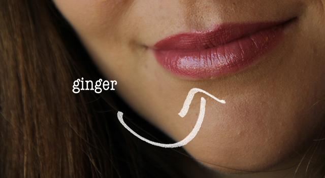 ginger lipstick