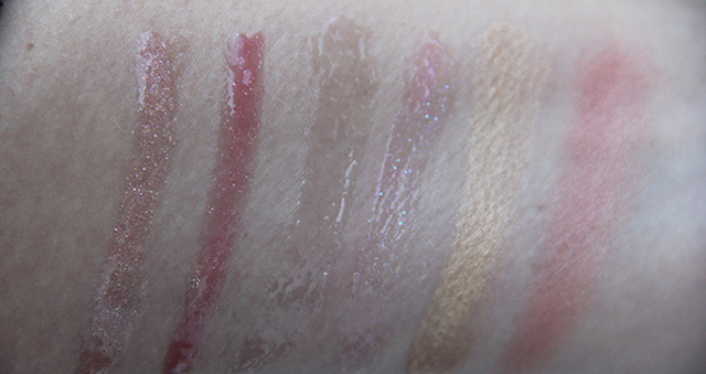 shimmer swatches