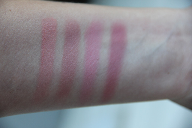 tarte blush swatches