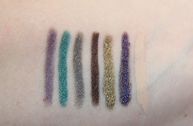 pencil eyeliner swatches