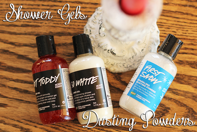 shower gels, dusting powder