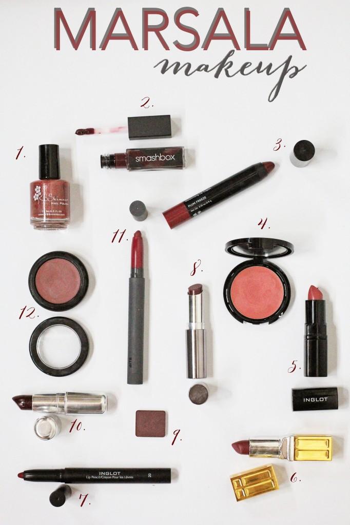 all the marsala makeup
