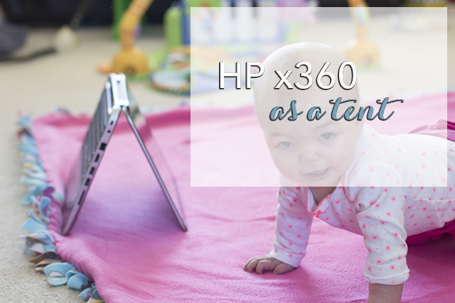 hp x360 as a tent