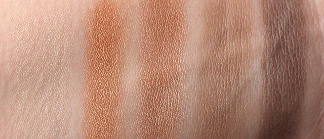 mac nordstrom naturals swatches row 2