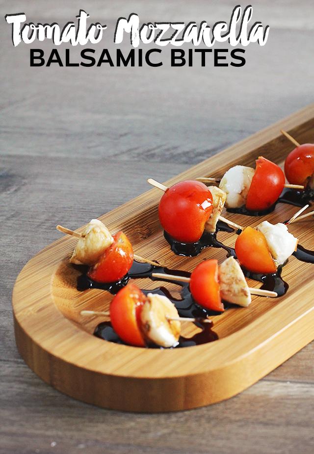 tomato mozzarella balsamic bites recipe