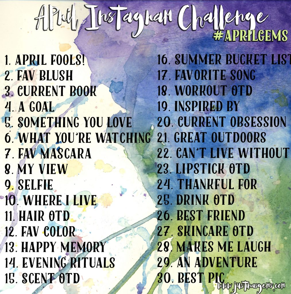 april instagram challenge 1