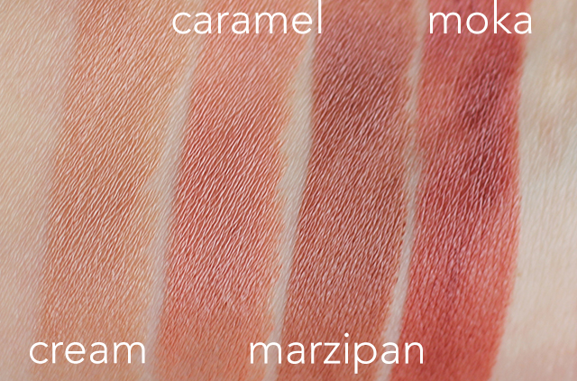 bite buttercream handcut lipstick swatches