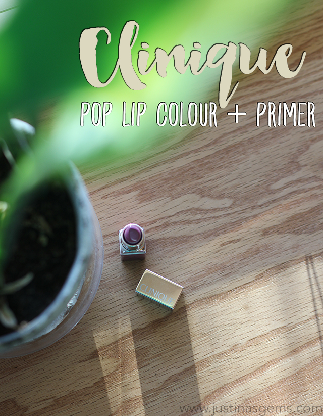clinique pop lip colour + primer grape pop