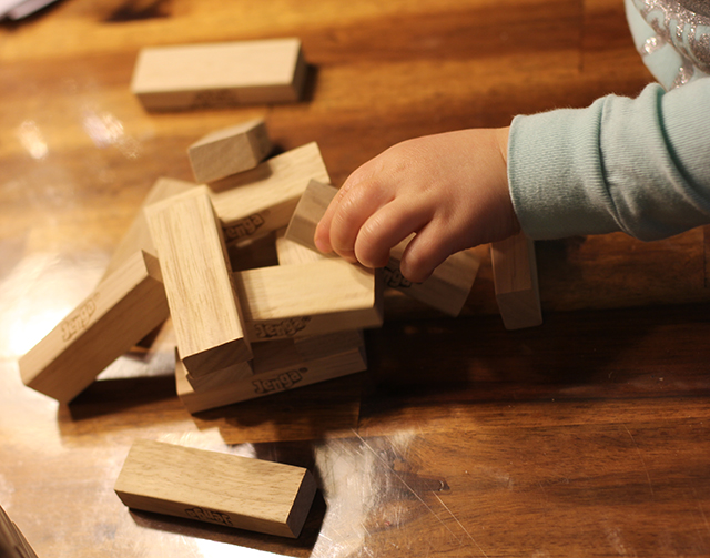 jenga with kids