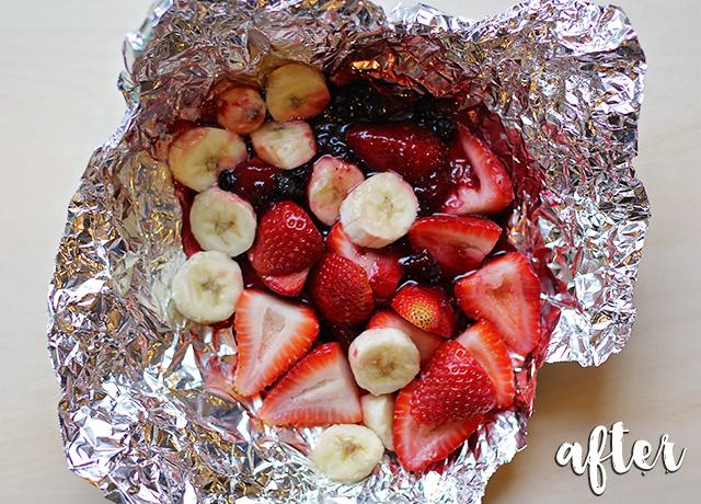 after grilling fruit