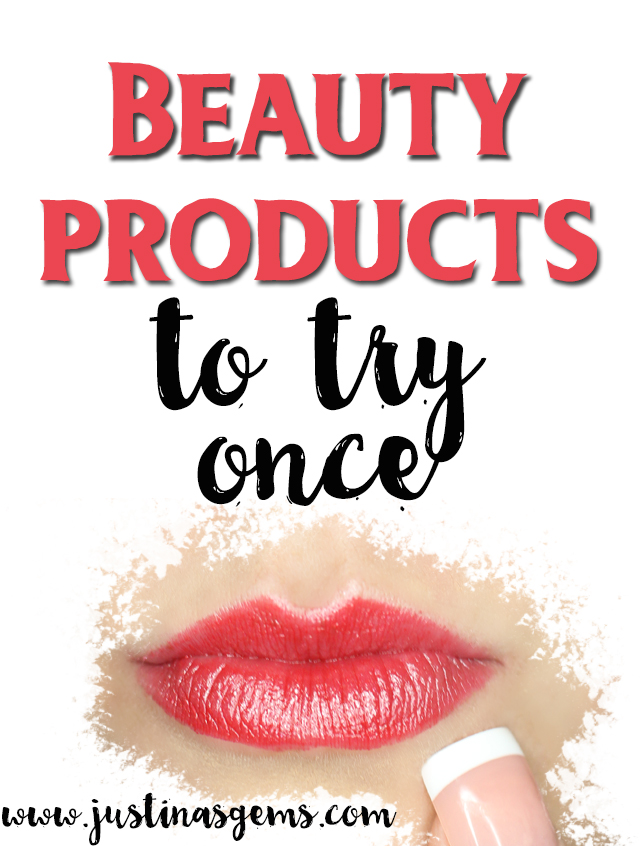 beauty products to try once