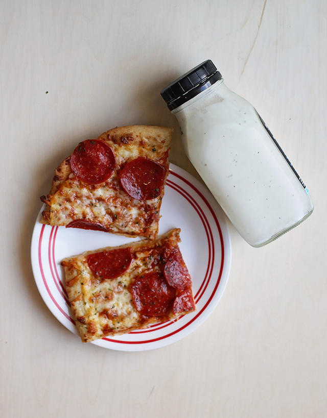 pizza with ranch
