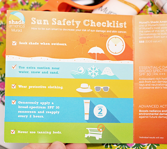 sun safety checklist