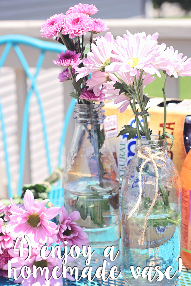 homemade glass vase