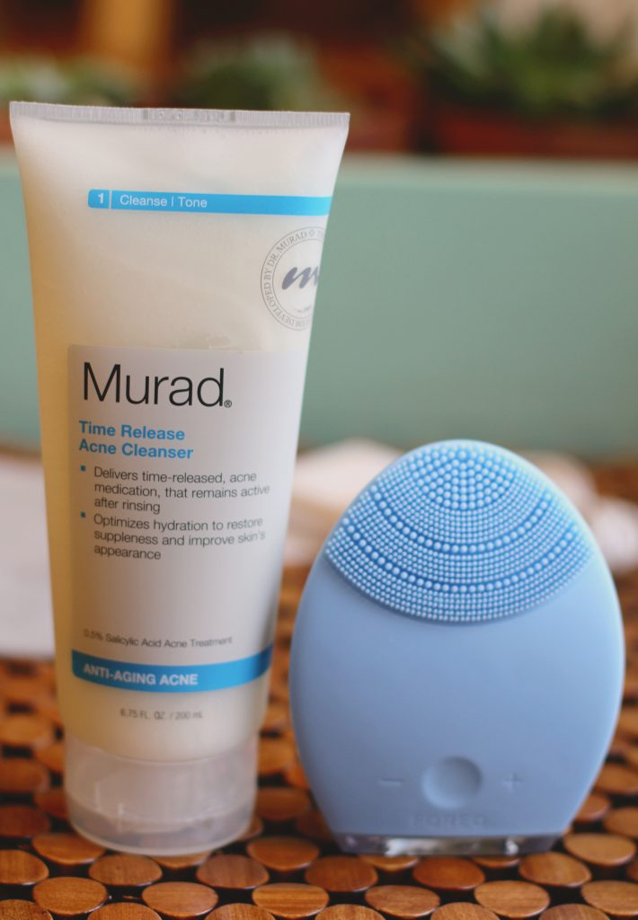 murad cleanser with foreo luna