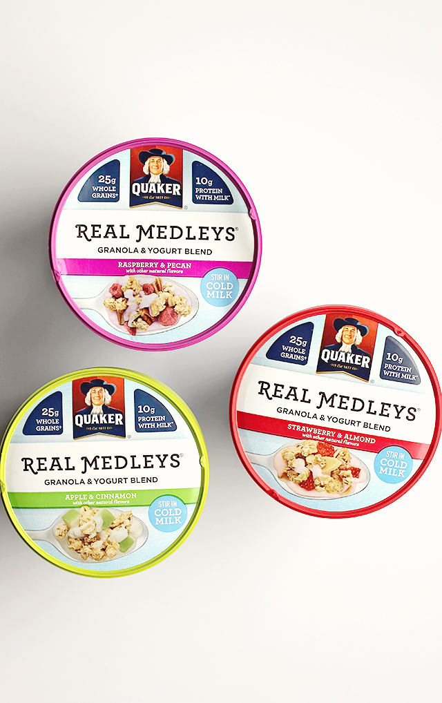 real medleys granola and yogurt blend