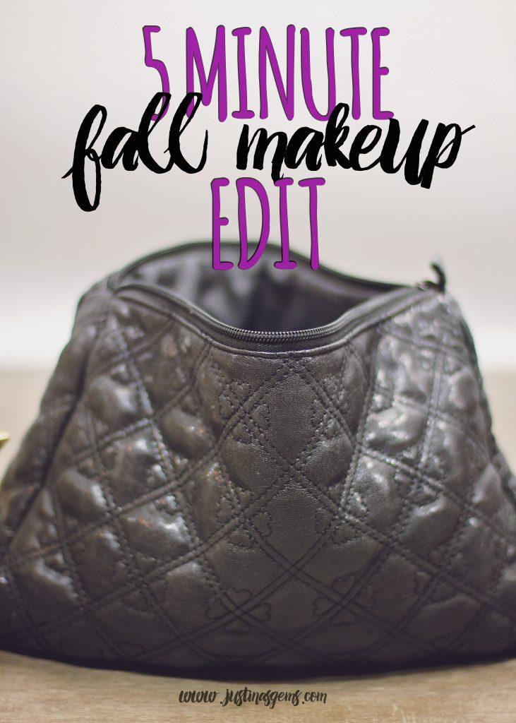 5 minute fall makeup bag edit