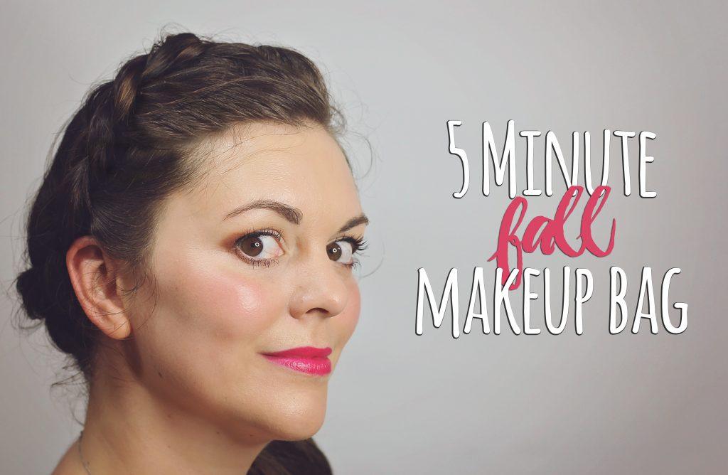 5 minute fall makeup bag redo