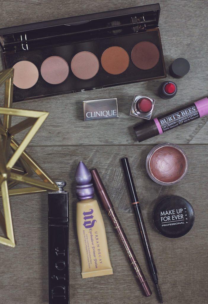 fall makeup bag edit