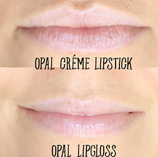 opal creme lipstick and opal creme gloss swatches